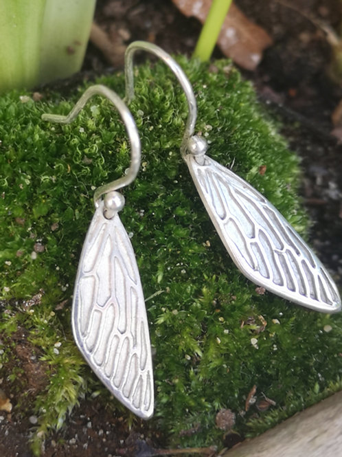 Natural Fairy Wing Earrings