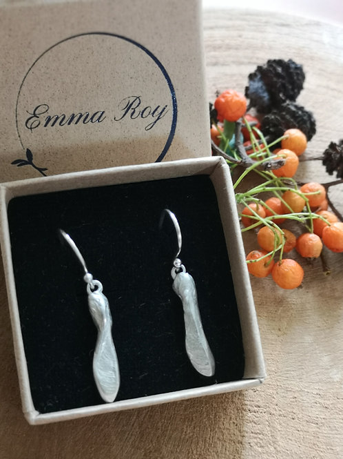 Sycamore seed earrings