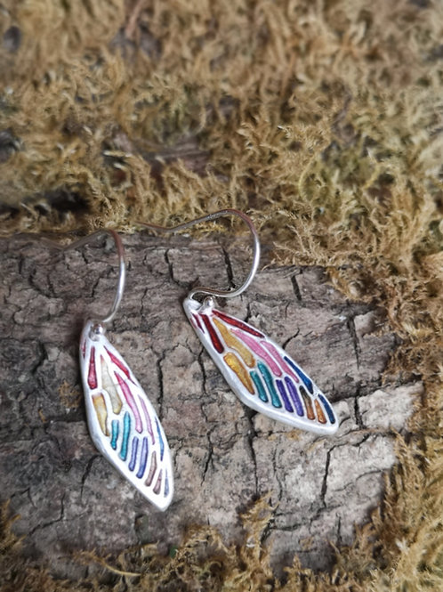 Rainbow Fairy Wing Earrings