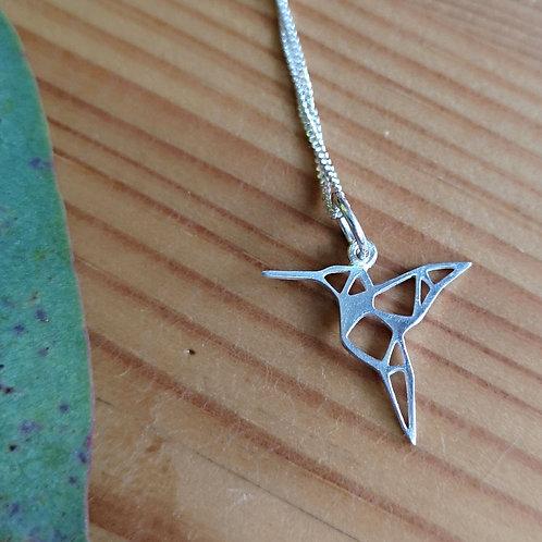 Hummingbird Origami Necklace
