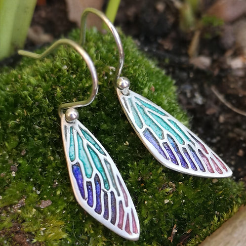 Peacock Fairy Wing Earrings