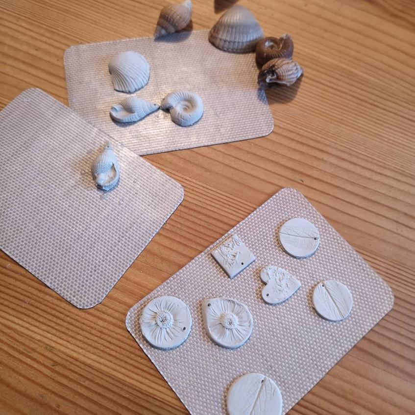 Work in progress - silver clay