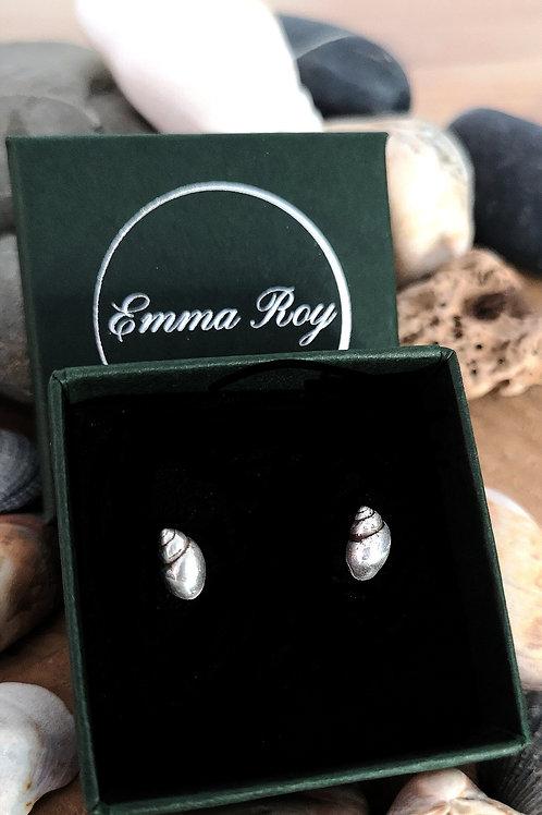 Sea Snail Shell Stud Earrings