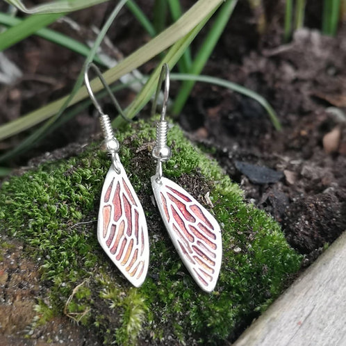 Autumn Fairy Wing Earrings