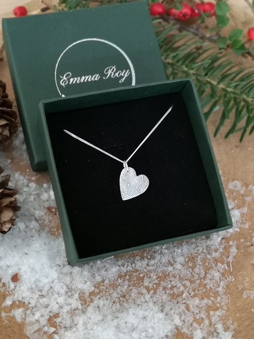 Woodgrain Heart necklace
