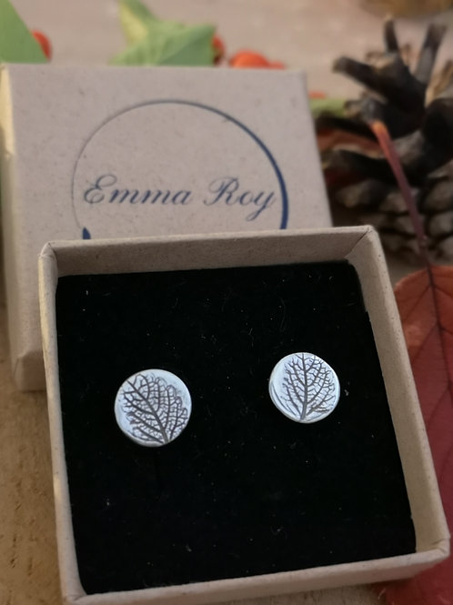 Natural leaf Stud Earrings