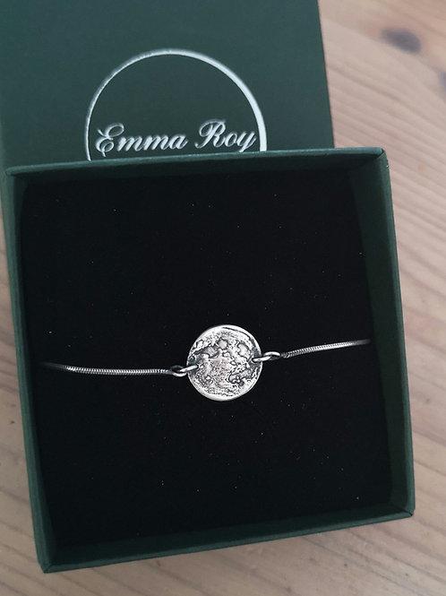 Silver Moon Adjustable Bracelet