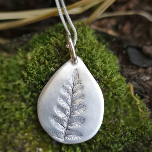 Natural Fern Necklace