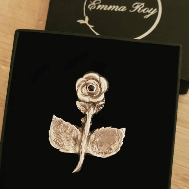 Memorial Rose Brooch