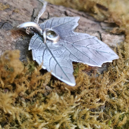 Acer Leaf Necklace