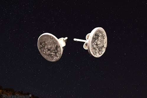 Silver Moon Stud Earrings