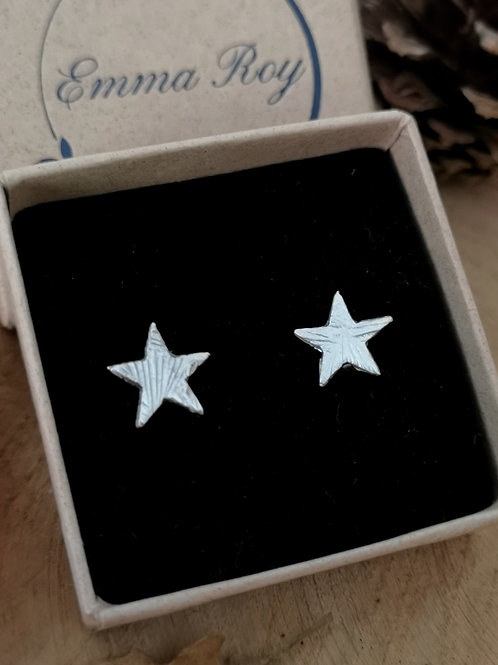 Large Star Stud Earrings