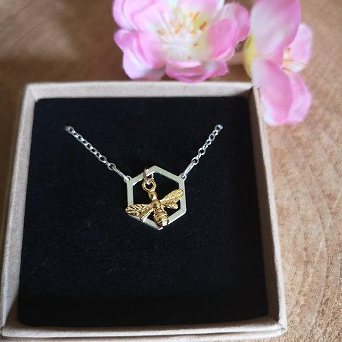 Honeycombe Bee Necklace
