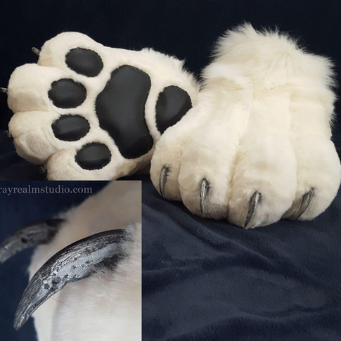 Abraxas feet paws(White)