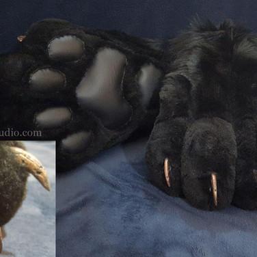 Abraxas feet paws(black)