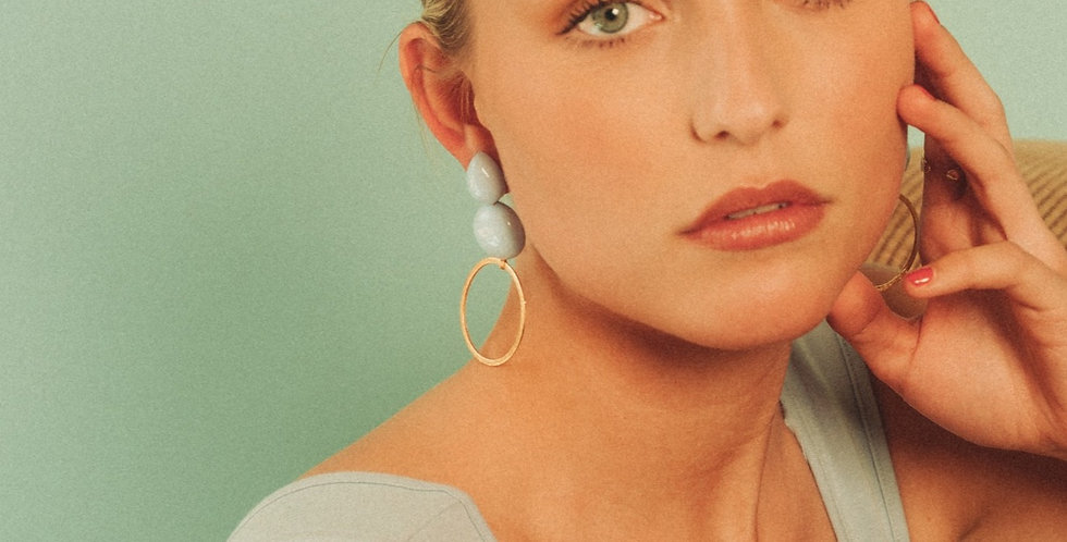 Yashi earrings baby blue