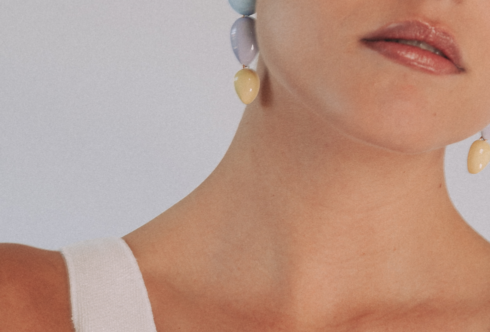 Joetsu earrings tricolor