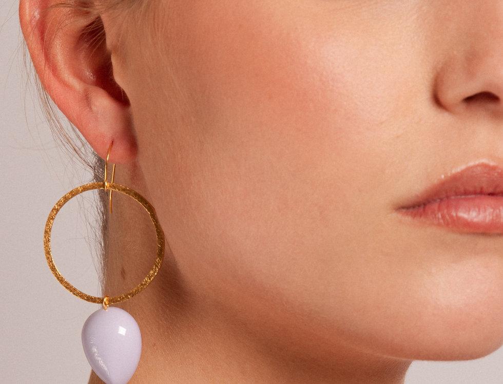 Seiyo earrings lila