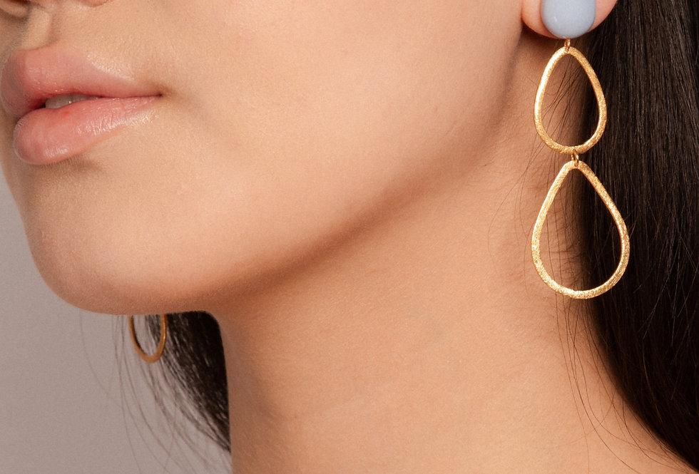 Saku earrings baby blue