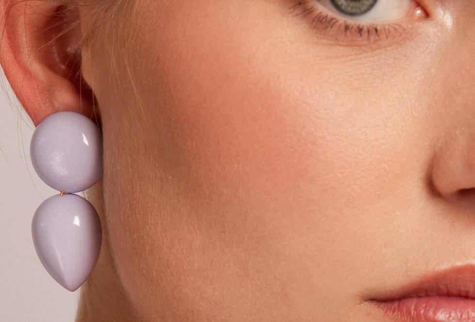 Curvas earrings lila