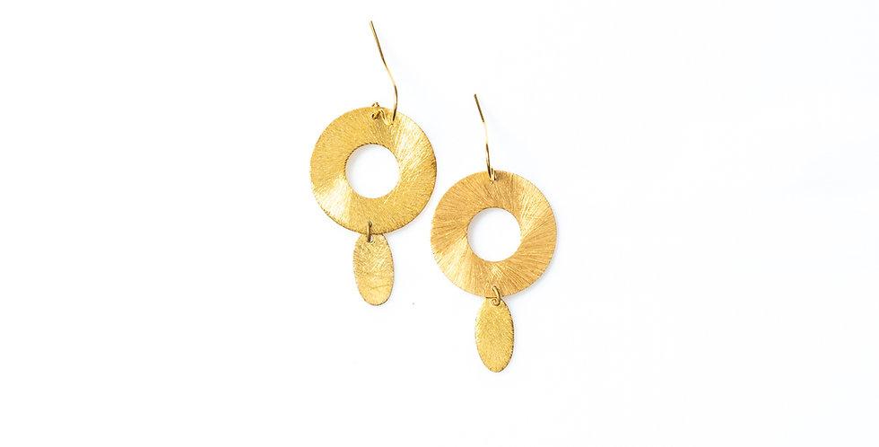 Pleated earrings
