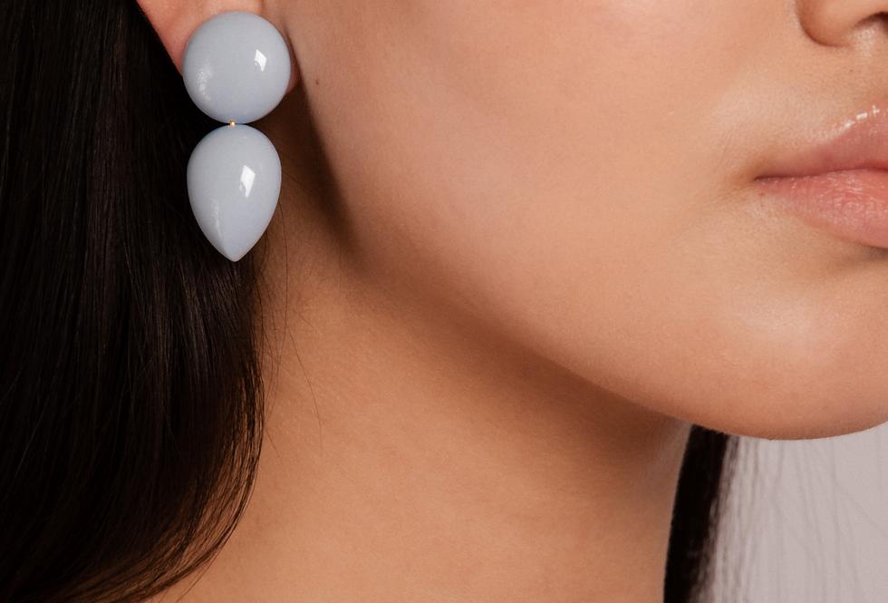 Curvas earrings baby blue