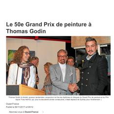 Unanimité pour Thomas GODIN, lauréat du 50 ième grand prix de peinture du Léon