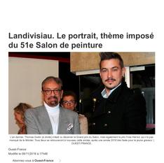 Thomas GODIN sacré grand prix de peinture du Léon
