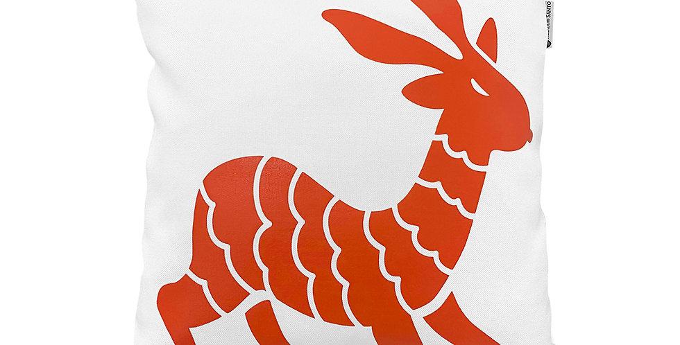 Otomi Throw Pillow Cover - Fire Orange