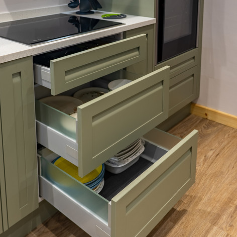 Glass sided drawers