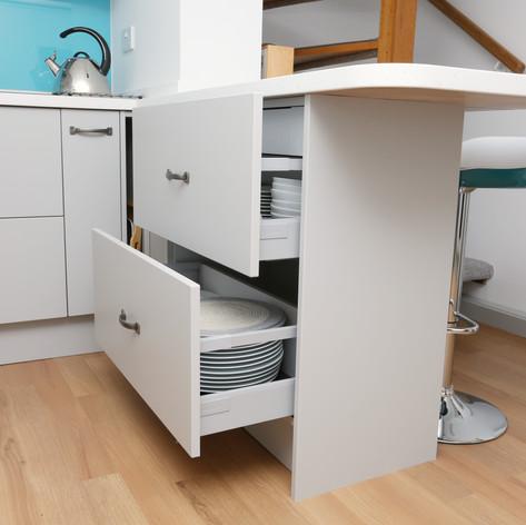 Shallow drawer