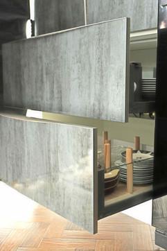 Glass side drawer