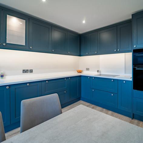 Shaker doors in Nautical Blue