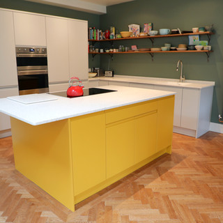 Modern colourful kitchen space