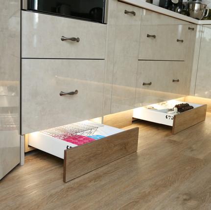 Plinth drawers