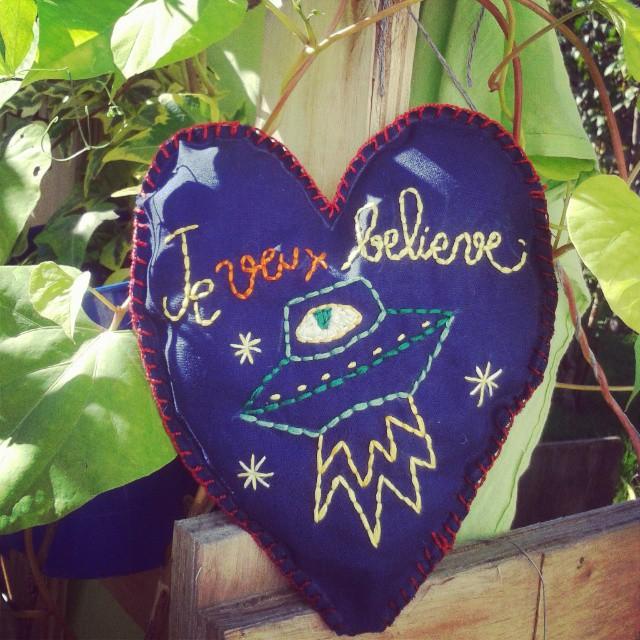 "Broderie ""Je veux Believe"""