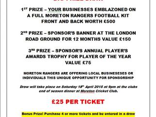 Sponsorship Prize Draw