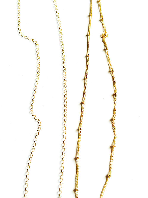 14kt Gold Filled Satellite Chain (right)