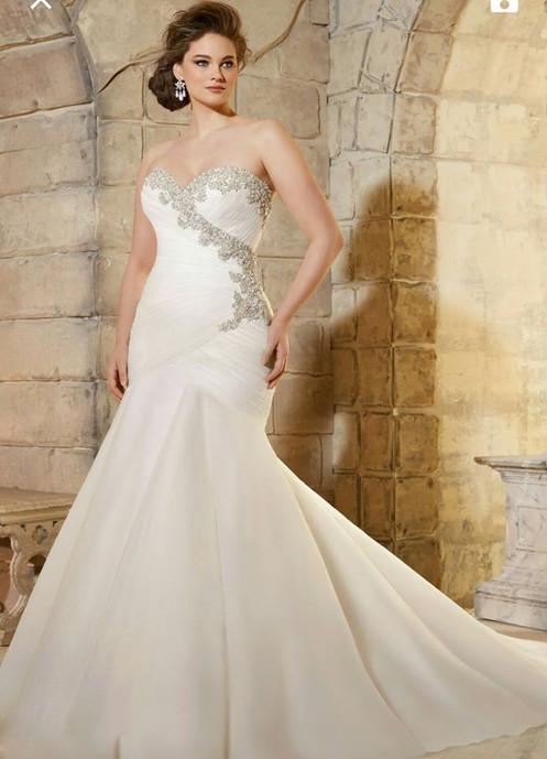 37a06bc1852c Sweetheart-Mermaid-Sweetheart-Rufflet-Lace-Up-With-Crystal-Wedding-Dress -2016-