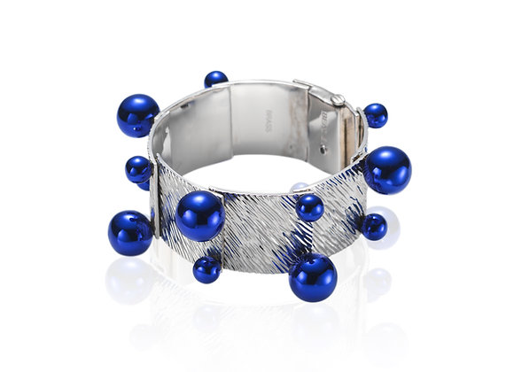 The Ball Cuff - Silver/Blue