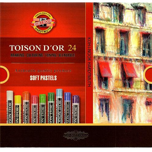 Koh-I-Noor - Toison D´or - Pasteles Suaves - 24 und.