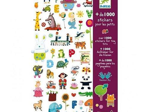 Djeco - Set de 1000 Pegatinas