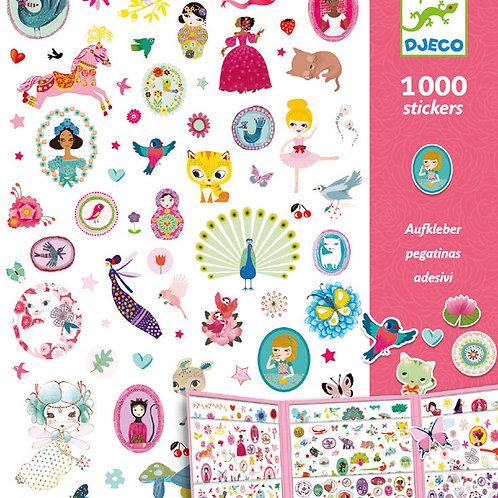 Djeco - 1000 Pegatinas Dulces