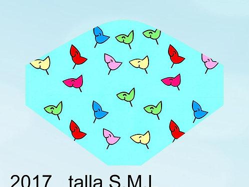 2017 Mascarilla Los Pájaros de mi Cabeza (azul)