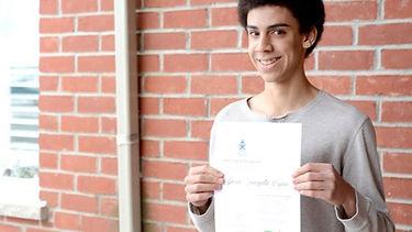 Dario Smagata-Bryan, an OSAID volunteer, receives prestigious provincial award.