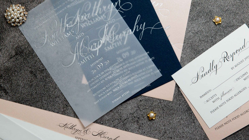Foil Print Invitations (50 Count)