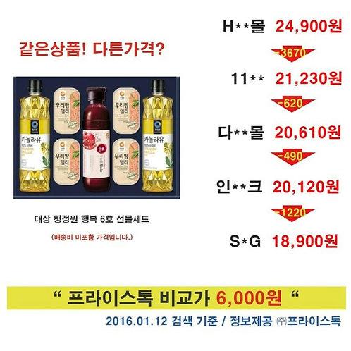Gift set CheongJeongwon Happy 6