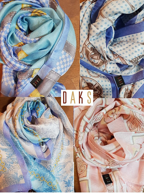 DAKS silk long scarf