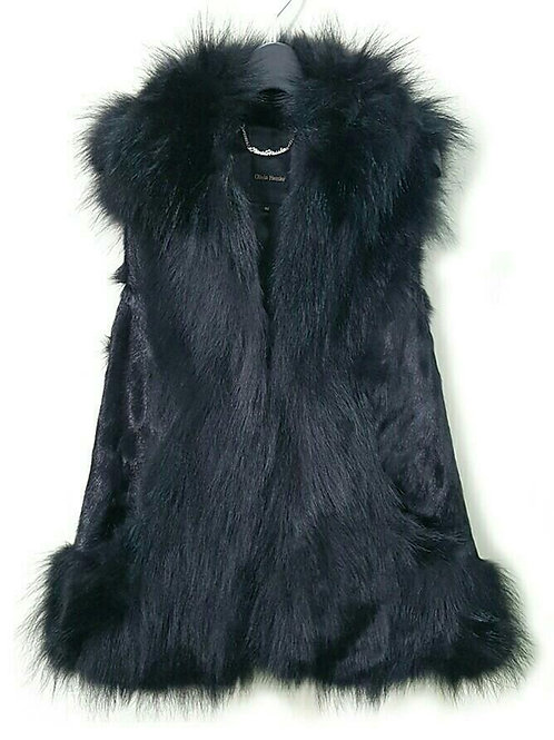 Olivia Hassler Coyote mix fur vest