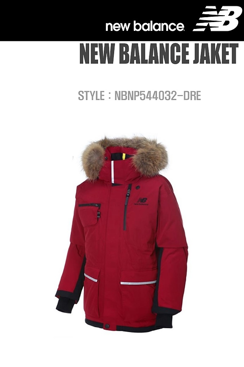 [New Balance] Lady's Goose Down padding coat RED